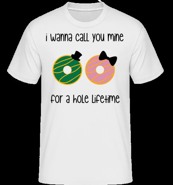Pro díru Lifetime -  Shirtinator tričko pro pány - Bílá - Napřed