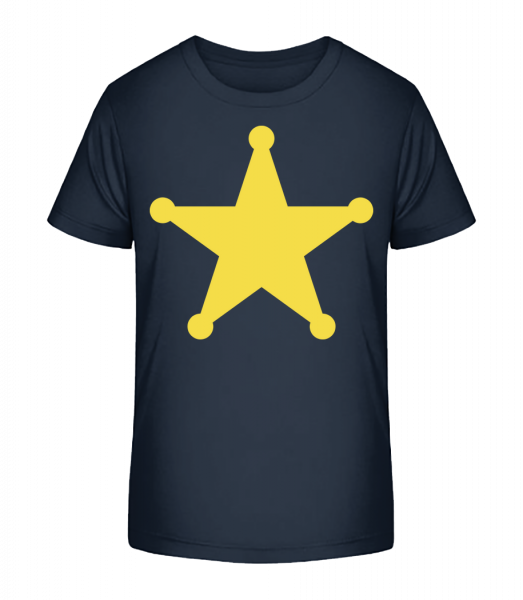 Star Logo - Detské Premium Bio tričko - Namořnická modrá - Napřed
