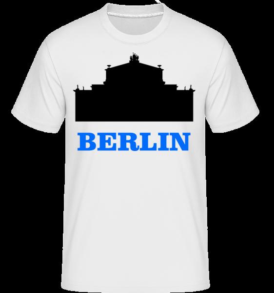 Berlin Skyline -  Shirtinator tričko pro pány - Bílá - Napřed