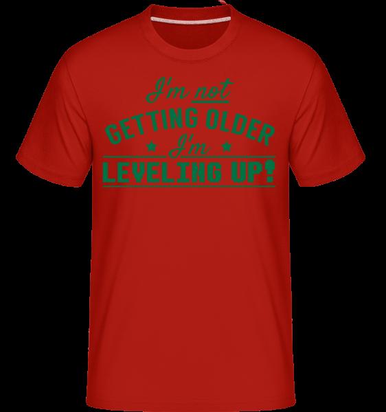 I'm Leveling Up! -  Shirtinator tričko pro pány - Červená - Napřed