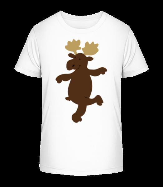 Děti Comic - Reindeer - Detské Premium Bio tričko - Bílá - Napřed