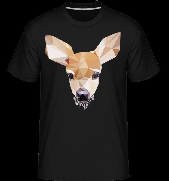 Polygon Deer -  Shirtinator tričko pro pány - černá - Napřed