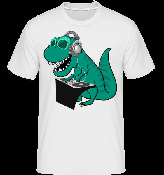 T-Rex DJ - Shirtinator tričko pro pány - Bílá - Napřed