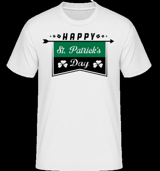 Happy St. Patrick's Logo - Shirtinator tričko pro pány - Bílá - Napřed