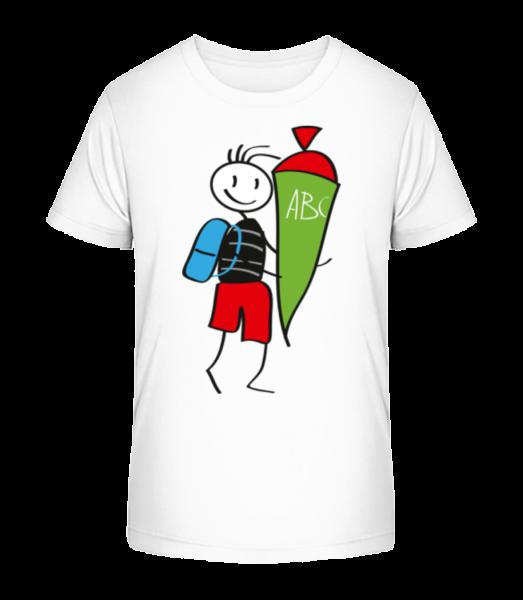 Dítě se Cornet plné cukroví - Detské Premium Bio tričko - Bílá - Napřed