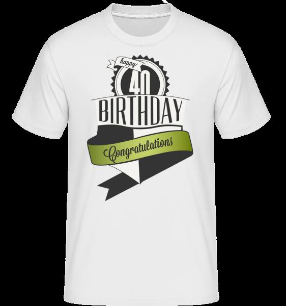 40 Birthday Congrats -  Shirtinator tričko pro pány - Bílá - Napřed