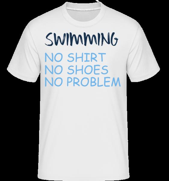 Plavání Žádné problémy -  Shirtinator tričko pro pány - Bílá - Napřed