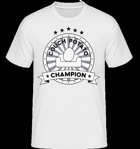 Couch Potato Champion - Shirtinator tričko pro pány - Bílá - Napřed