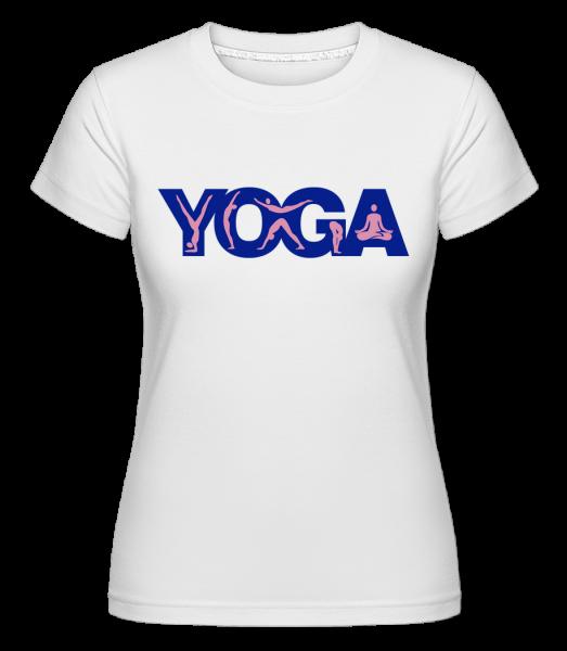 Jóga Sign Modrá - Shirtinator tričko pro dámy - Bílá - Napřed
