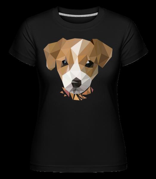 polygon Dog -  Shirtinator tričko pro dámy - Černá - Napřed