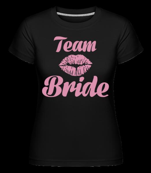 Tým nevěsta polibek -  Shirtinator tričko pro dámy - Černá - Napřed