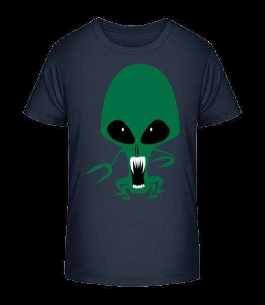 Alien Octopus - Detské Premium Bio tričko - Namořnická modrá - Napřed