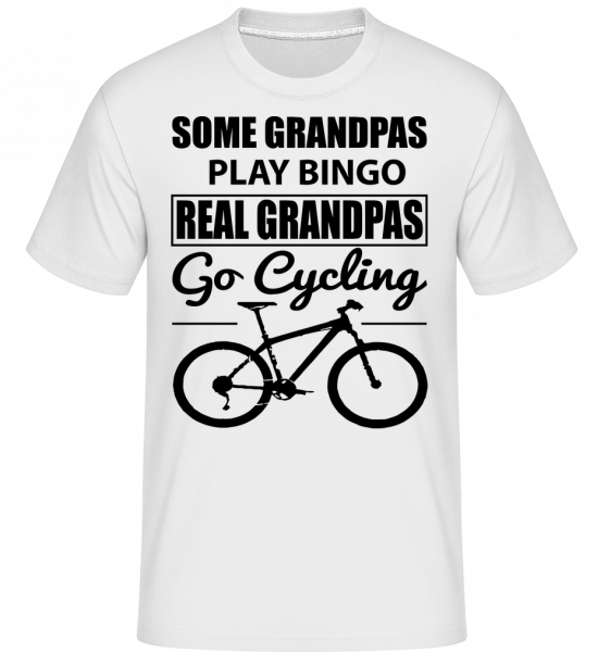 Real Granpas Go Cycling - Shirtinator tričko pro pány - Bílá - Napřed