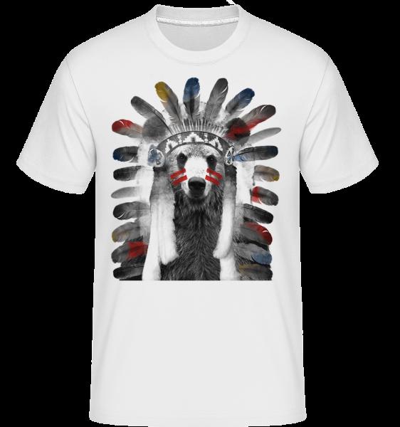 Indian Bear -  Shirtinator tričko pro pány - Bílá - Napřed