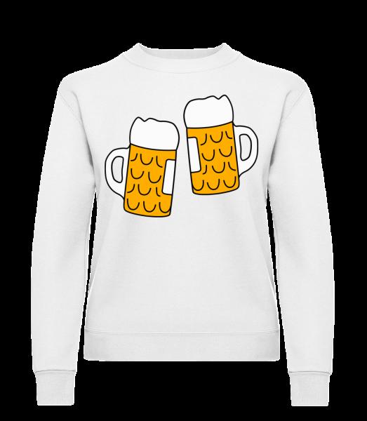 Two Beer - Klasická mikina pro dámy sg - Bílá - Napřed