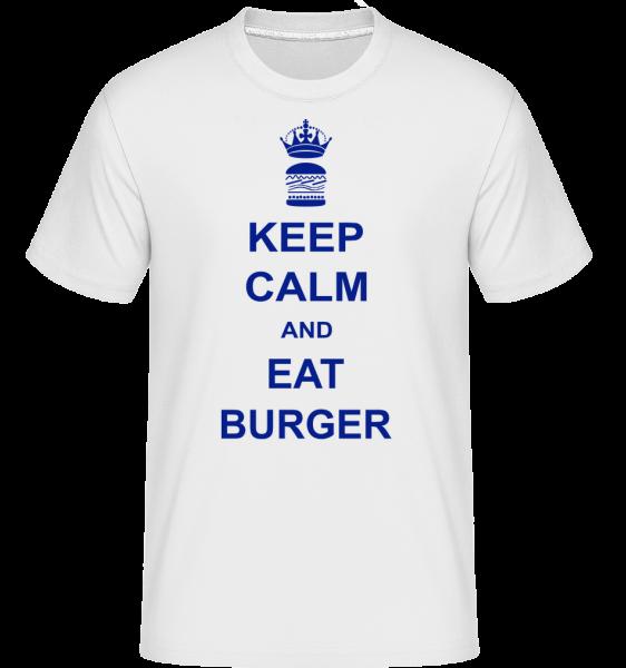 Mírněte se a jíst Burger -  Shirtinator tričko pro pány - Bílá - Napřed