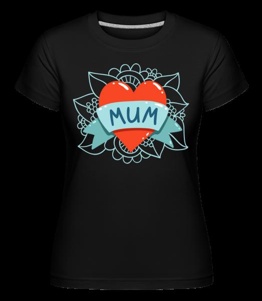 Mum Heart Icon -  Shirtinator tričko pro dámy - Černá - Napřed